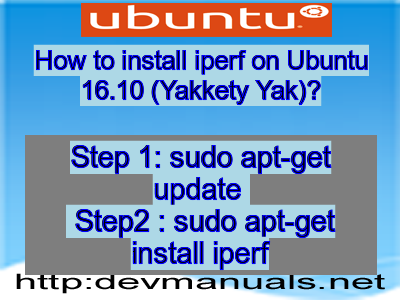 How to install iperf on Ubuntu 16 10 (Yakkety Yak)?