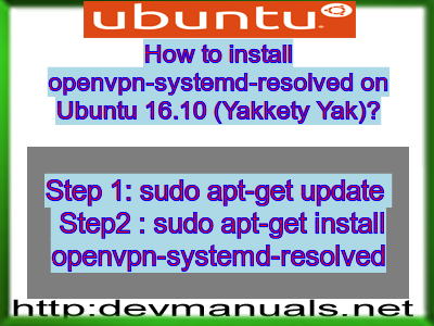 How to install openvpn-systemd-resolved on Ubuntu 16 10
