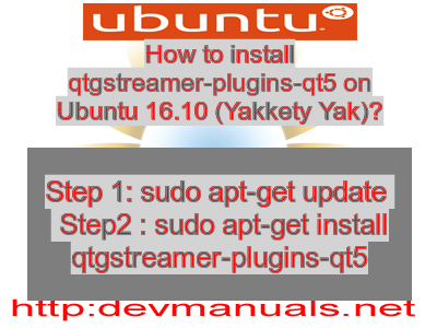 How to install qtgstreamer-plugins-qt5 on Ubuntu 16 10