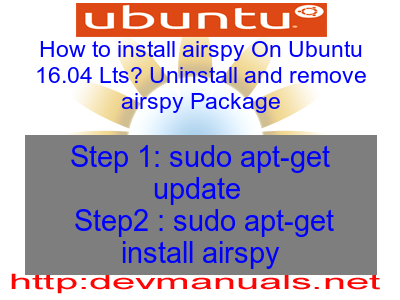 How to install airspy On Ubuntu 16 04 Lts? Uninstall and
