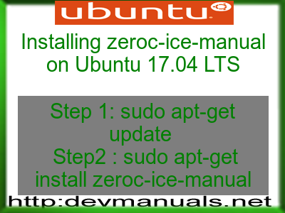 Installing zeroc-ice-manual on Ubuntu 17.04 LTS