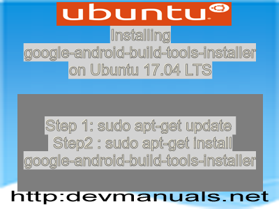 Installing google-android-build-tools-installer on Ubuntu 17.04 LTS