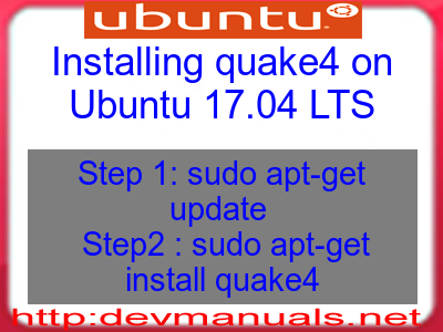 Installing quake4 on Ubuntu 17.04 LTS