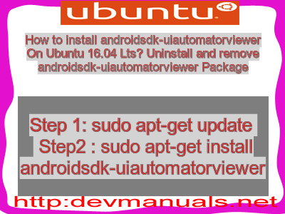 How to install androidsdk-uiautomatorviewer On Ubuntu 16 04