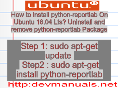 How to install python-reportlab On Ubuntu 16 04 Lts