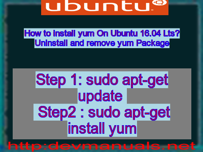 how to install yum in ubuntu 16.04